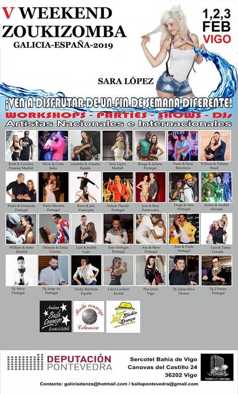 Vº Weekend Zoukizomba@Ciudade de Vigo 1,2 y 3 de Feb. 2019